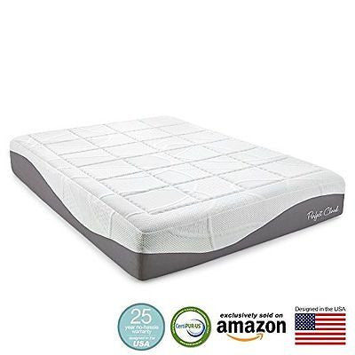 Perfect Cloud Elegance Gel-Pro 12 Inch Memory Foam Mattress (King Size)