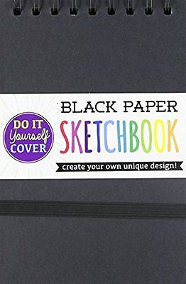 International Arrivals DIY Black Paper Sketch Book, 5 by 7.5 Inches (118-102)
