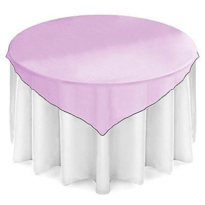 Lann's Linens Organza Table Overlays - Wedding Banquet Party Decoration
