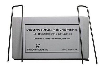 150 Garden Landscape Staples Stakes Fabric Anchor Pins 6 Inch Strong Durable