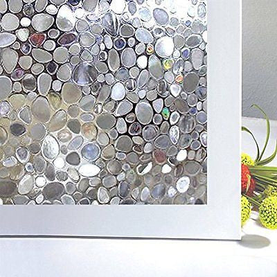 Bloss Window Treatment Static Window Cling Home Bedroom Bathroom Glass NO Glue