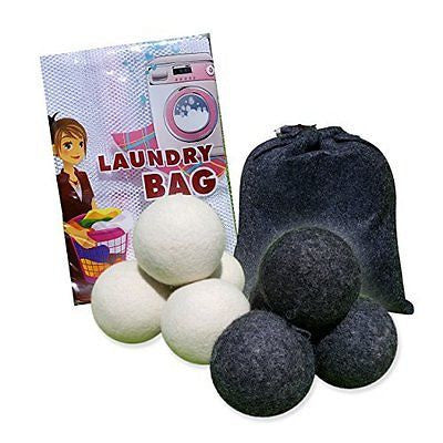 Wool Dryer Balls BUNDLE by Cozy -100% ORGANIC New Zealand Wool - Reusable