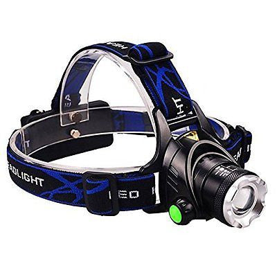 Mifine Waterproof LED Headlamp with Zoomable 3 modes 1000 Lumens light