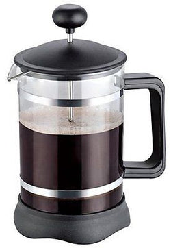 French Coffee Press (Black) - 34 oz Coffee Maker with Triple Filters Plunger