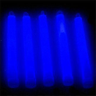 "6"" Premium Lumistick Glow Light Sticks Blue (Tube of 25)"