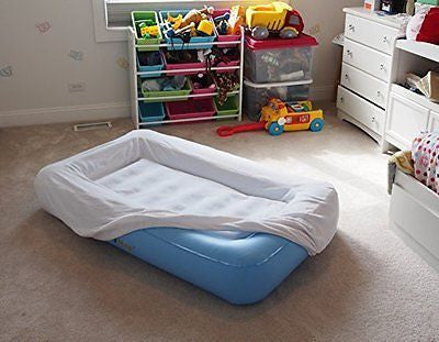 Kids Air Mattress with Wrap-Around Bumpers Soft Cover (Includes Electric Pump)