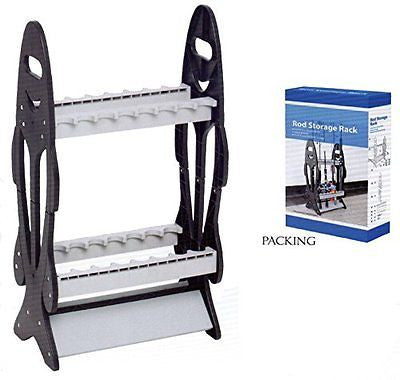 Wealers 16-rod Rack Fishing Rod Holder Organizer Bait Lures Fish Tackle