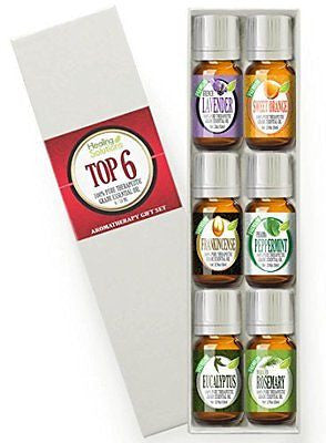 Aromatherapy Top 6 - 100% Pure Therapeutic Grade Basic Sampler Essential Oil