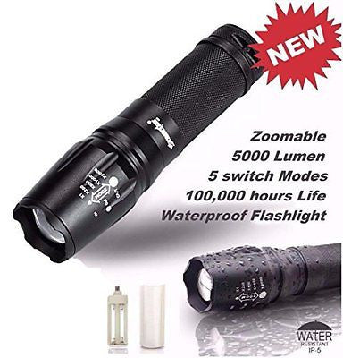 Usstore 5000 Lumen 5 Modes T6 Zoomable LED 18650 Flashlight Torch Lamp Light