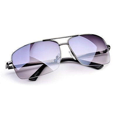 Mens Uv Protection Rectangular Drive Outdoor Sport Beach Sunglasses
