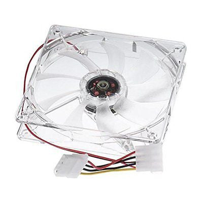 Wensltd 12CM CPU Cooling Fan Computer PC Clear Case Quad Heatsink