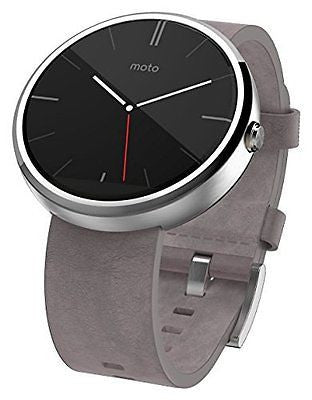 Motorola Moto 360 - Stone Grey Leather Smart Watch