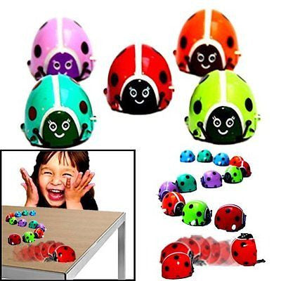 Dazzling Toys Flipping Wind-up Lady Bugs - 12 Pack - Bulk. Great for parties
