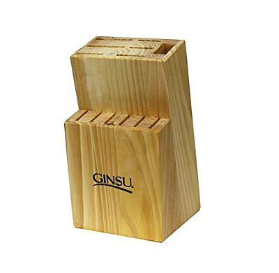 Ginsu 13 Slot Natural Knife Block Brown