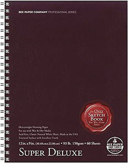 Bee Paper Super Deluxe Sketch Pad, 9-Inch by 12-Inch