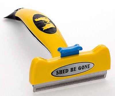 Shed Be Gone Deshedding Tool for Long Hair Dogs & Cats. Premium Shedding Brush f