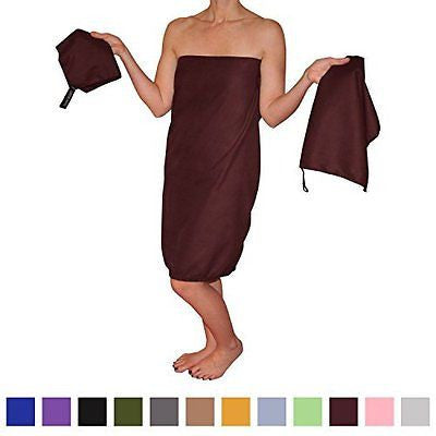 Microfiber Travel Towel Set (3 Towels) with Large 30 X 60