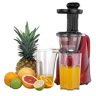 VonShef Professional Slow Fruit Vegetable Masticating Juicer with Quiet 200W Mot