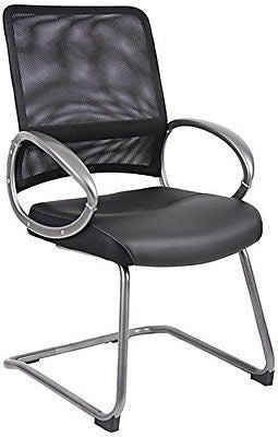 Boss Mesh Back with Pewter Finish Guest Chair