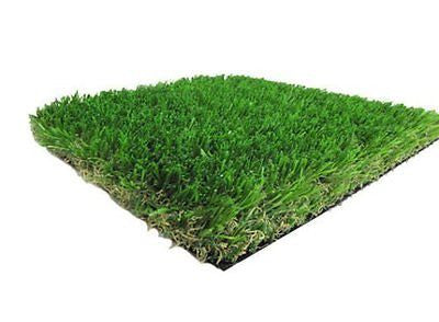 6' X 8' Two-Toned Artificial Grass w/ a Natural Tan Thatch and Drainage Holes