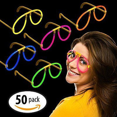 "Milliard Glow Stick Style Glow Glasses: 8"" Non-toxic Party Assorted Colors"