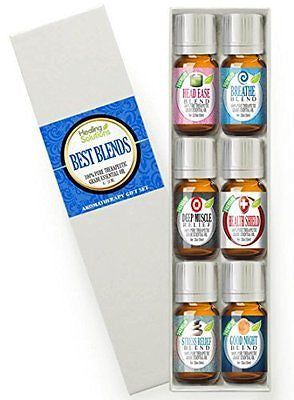 Best Blends Set of 6 100% Pure, Best Therapeutic Grade Essential Oil - 6/10mL
