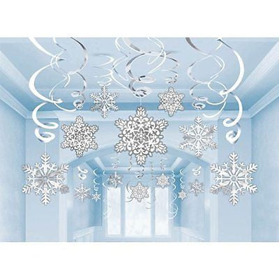 Snowflake Hanging Swirls - 30 pieces