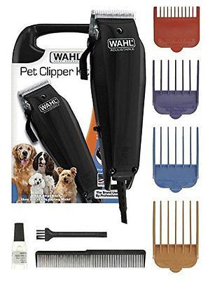 Wahl Pet Clippers 10 pc Professional Dog Fur Clipper Grooming Kit Basic Set