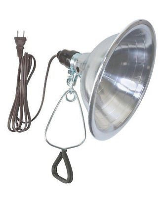 Woods 0151 18/2 SPT-2 Clamp Lamp Light w/ 8.5-Inch Reflector, 150-Watt