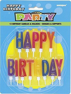 Letter Happy Birthday Candles