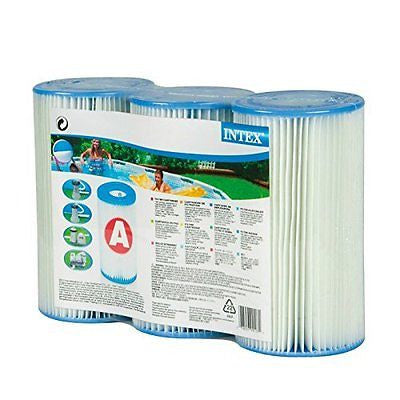Intex Recreation 29003E 3-Pack Type-A Filter Cartridge for Pools