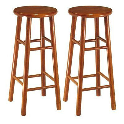 Winsome Wood Assembled 30-Inch Cherry Finish Bar Stools Set of 2