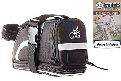 Saddle Bag/Bike Bag | Straps to Your Seat with EASE | MEDIUM Size Bicycle Bag