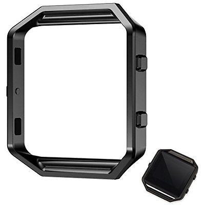 Shareconn Replacement Accessory Steel Frame for Fitbit Blaze Smart Watch Black
