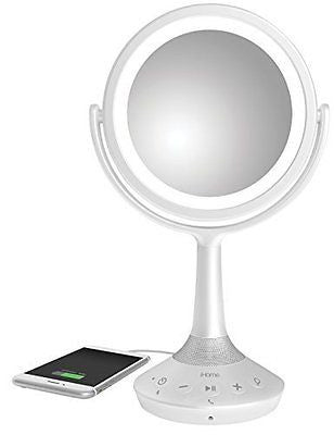 "iHome 6"" Double-sided Vanity Mirror with Bluetooth Audio / Speakerphone"