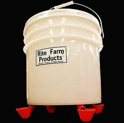 3.5 GALLON AUTOMATIC WATERER 4 DRINKER CUP CHICKEN POULTRY HEN COOP BIRD WATER