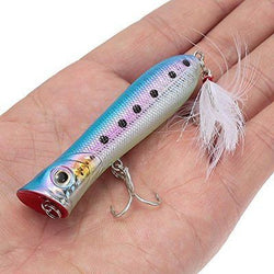 8cm 12g Artificial Hard Bait Lifelike Popper Fishing Lure Topwater Floating