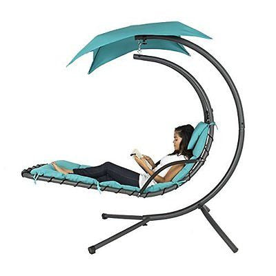Best Choice Products? Hanging Chaise Lounger Chair Arc Stand Air Porch Swing