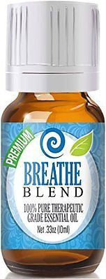 Breathe Blend 100% Pure, Best Therapeutic Grade Essential Oil - 10ml