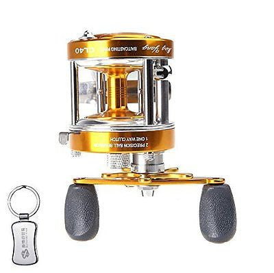 Full Metal 2+1BB Ball Bearings Right Hand Baitcasting Fishing Reel Drum Wheel