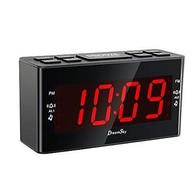 [Update Version ]DreamSky AM/FM Clock Radio With Dual Alarms And SLeep Timer