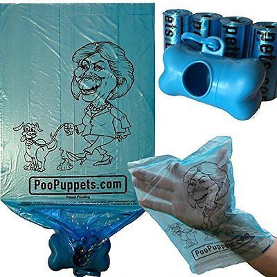 Hillary Clinton Dog Poop Bags by PooPuppets. Pick up your dog's mess