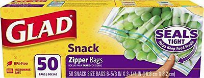 Bags Zipper Snack 50 Count (Pack of 12)