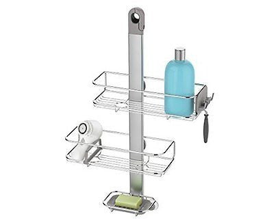 simplehuman Stainless Steel & Anodized Aluminum Adjustable Shower Caddy