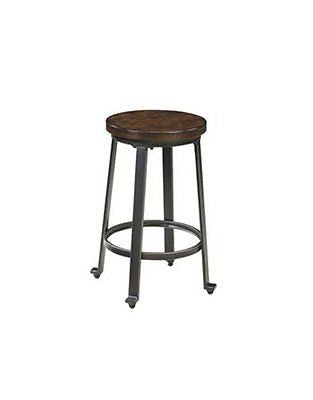 Ashley Furniture Signature Design Challiman Stool Rustic Brown Set of 2