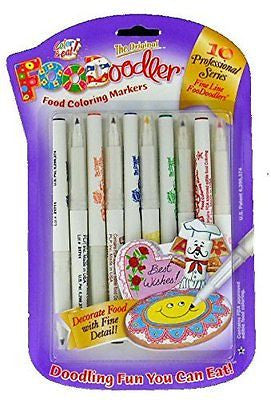 FooDoodler Food Coloring Markers - 10 Colors - Kosher (1, A) by Private Label