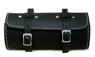 Men's Genuine Leather Schwinn Bicycle Round Saddle Bag Utility Tool Bag