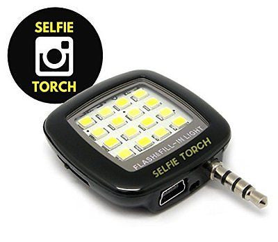 Selfie Light Torch: Cell Phone Flash LED Mini Spotlight Ring Fill-In Lighting