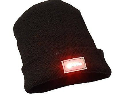Beanie Hat with 5 integrated Red LEDs extra batteries included