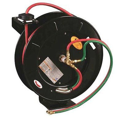 50 FT Oxygen Acetylene Dual Welding Retractable Reel w/ Hose